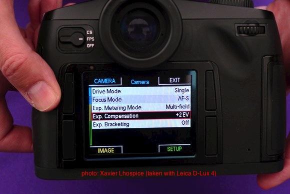 Leica S2 menu