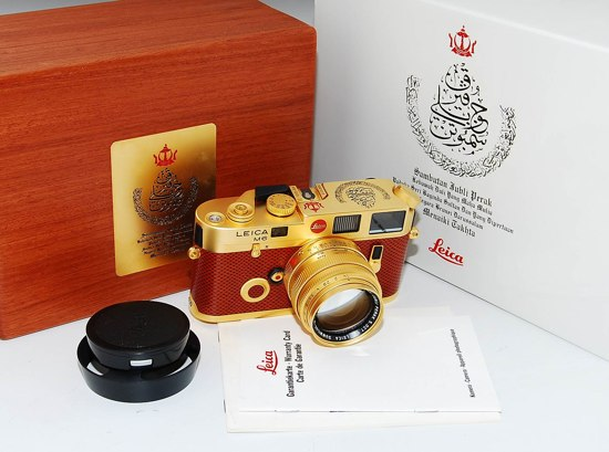 leica m6 limited edition Leica M6 Sultan of Negeri Brunei Darussalam silver jubilee 24ct gold edition (eBay Madness)