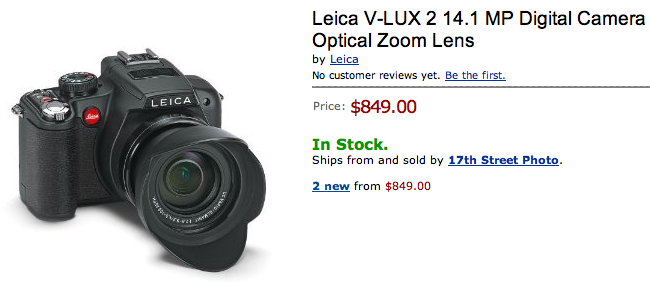 Leica V-Lux 2 now shipping