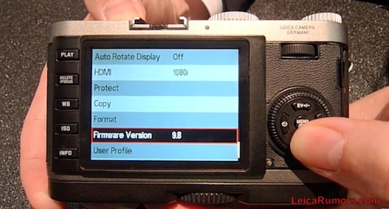 The first (pre-release) Leica X1 beta firmware