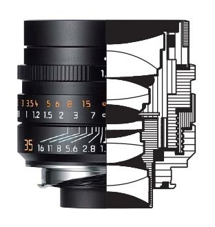 Leica Summilux-M 35mm f/1.4 lens drawing