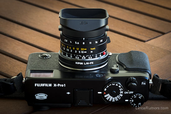Using Leica M Lenses On The Fuji X Pro1 Camera With The