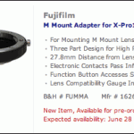 Fujifilm-M-Mount-Adapter-for-X-Pro1