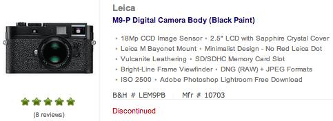 Leica-M9-P-discontinued