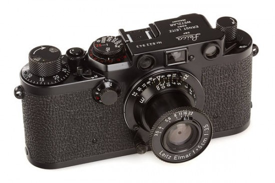 Leica IIIf black paint 'Swedish Army'