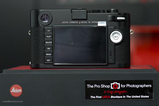 Leica M Type 240 digital rangefinder back