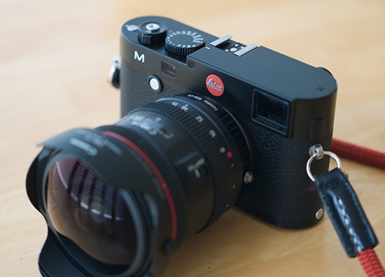 Leica-M-type-240-camera-with-Canon-lens-adapter-