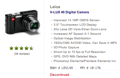 Leica-V-lux-40-discontinued