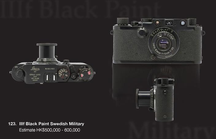 Leica IIIf plack paint Swedish Military