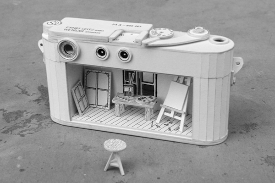 Paper-cardboard-Leica-M3-camera-back