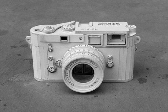 Paper-cardboard-Leica-M3-camera