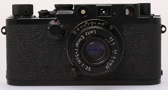 Leica-IIIf-Black-Paint---'Swedish-Military'-Serial-no.822990,-1956