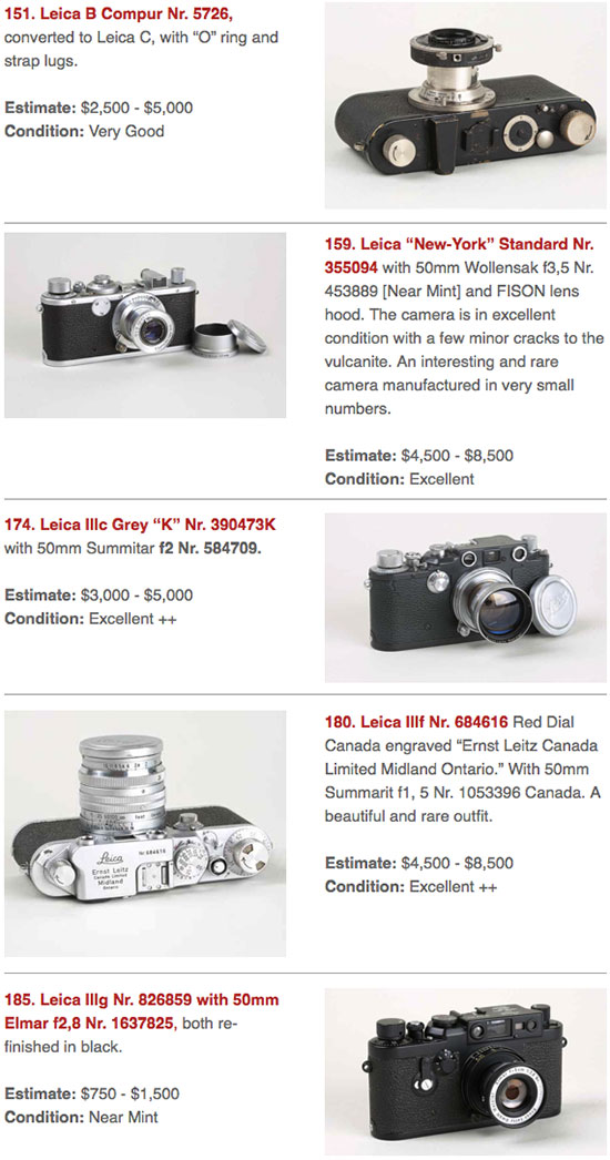 Leica-cameras-at-Tamarkin-auction