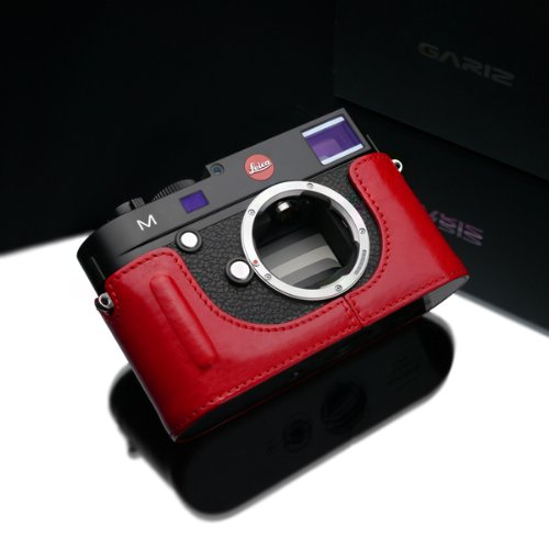 Gariz leather BL-LCMBR Leica M half case red