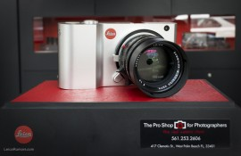 Leica T camera with M adapter