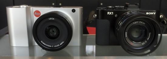 Leica T vs Sony RX1 cameras size comparison1