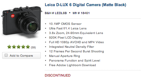 Leica-D-Lux-6-camera-discontinued