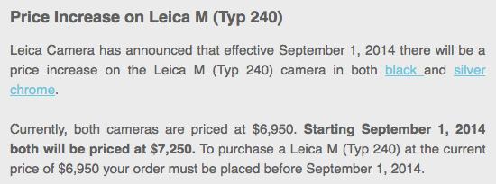 Leica-M-typ-240-camera-price-increase