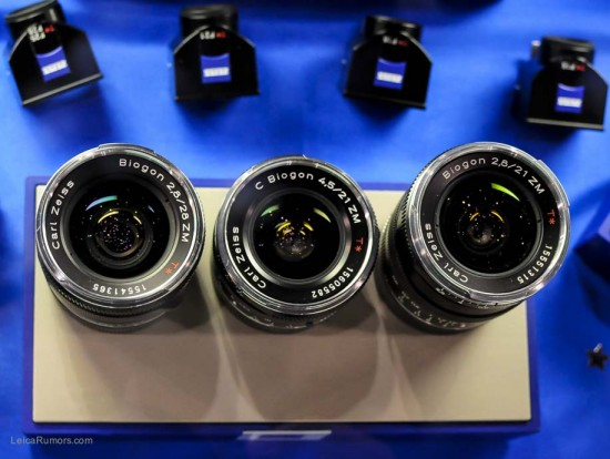 Zeiss ZM rangefinder camera lenses for Leica M mount