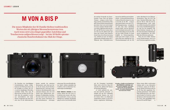 LFI magazine Leica M-A Photokina