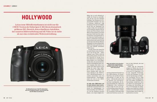 LFI magazine Leica S Photokina