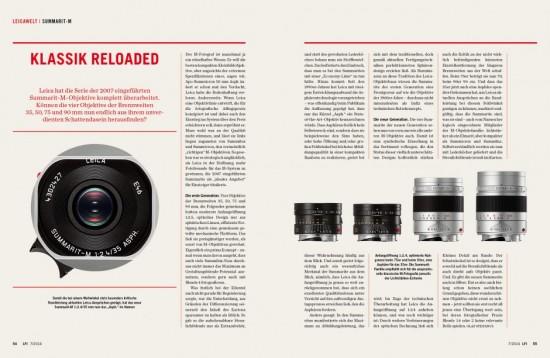 LFI magazine Leica Summilux Photokina
