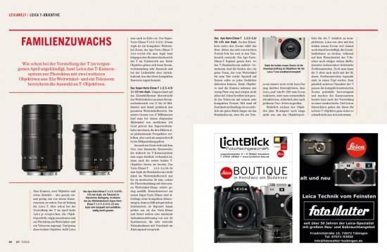 LFI magazine Leica T lenses Photokina