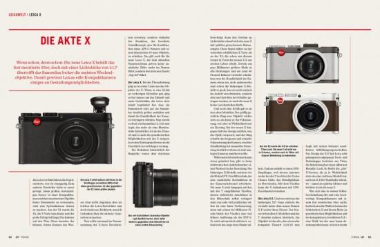 LFI magazine Leica X Photokina
