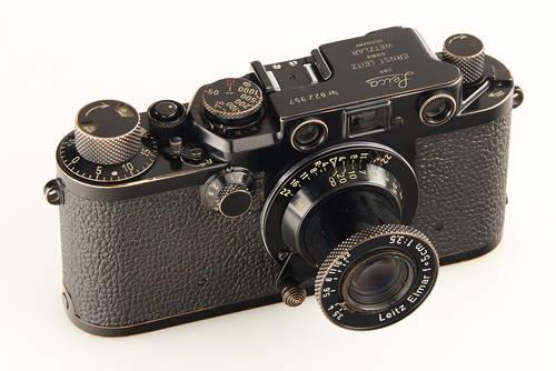 Leica IIIf camera black Swedish Army