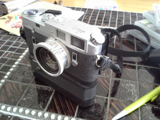 Leica M4 modded with a Canon Rebel sensor