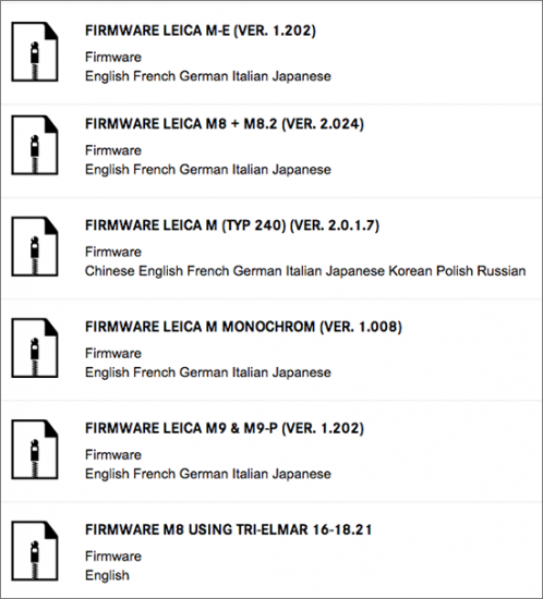 Leica-firmware-updates