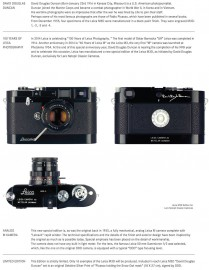 "Leica M3D-5 ""David Douglas Duncan"" limited edition camera: additional coverage"