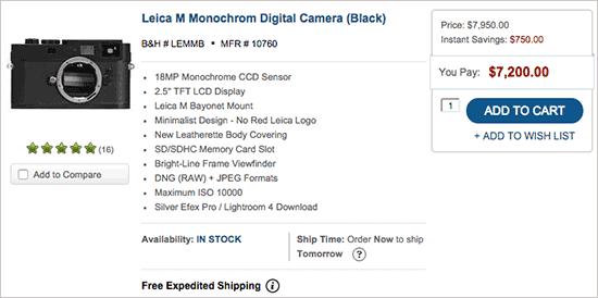 Leica-Monochrom-camera-discount