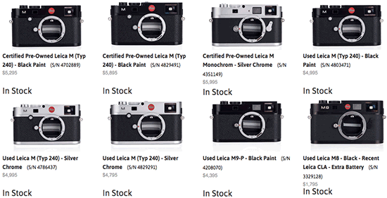 Used-Leica-M-cameras-on-sale