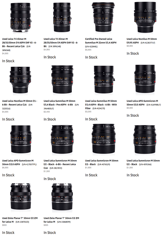Used-Leica-M-lenses-on-sale