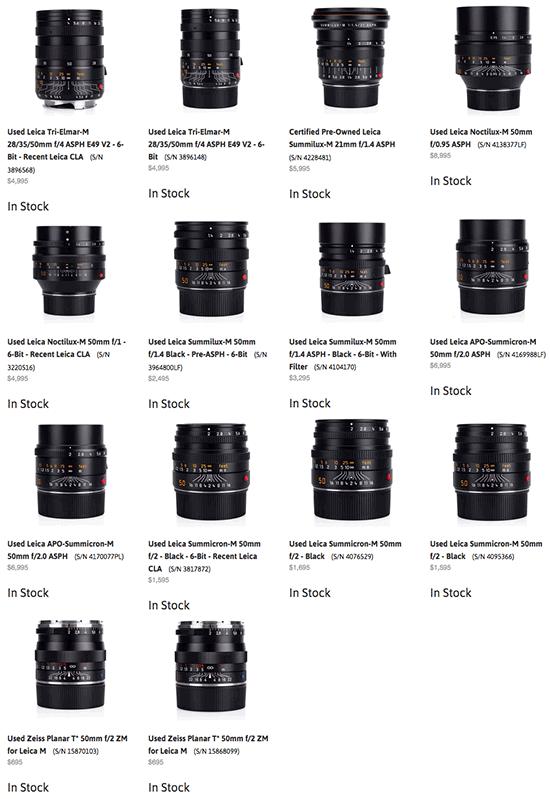 Used-Leica-M-lenses-on-sale