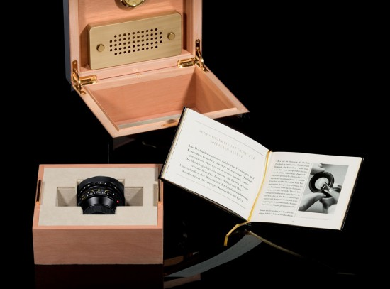 special edition Leica Noctilux f:1 lens with Elie Bleu humidor 3