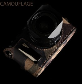 Angelo Pelle half camouflage case for Leica Q camera
