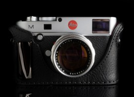 Angelo Pelle half leather case with metal grip for Leica M Typ 240
