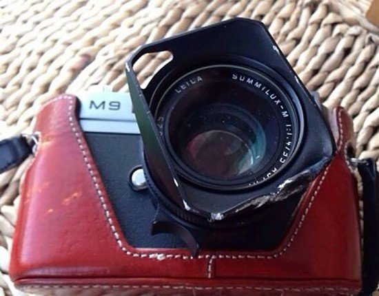Leica M9 survives fall from balcony, brakes pool granite tile