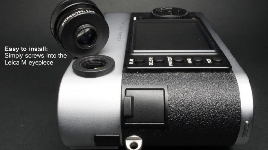 MGR Production zoomable viewfinder magnifier for Leica M cameras