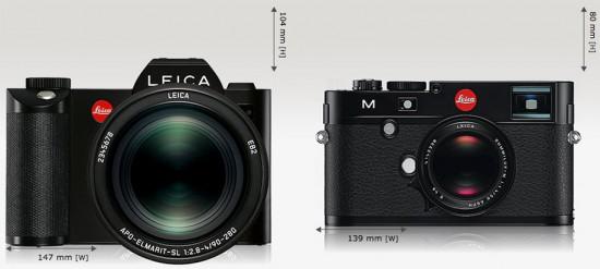 Leica-SL-vs-Leica-M-size-comparison