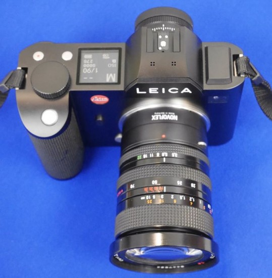 Novoflex lens adapter for Leica SL camera