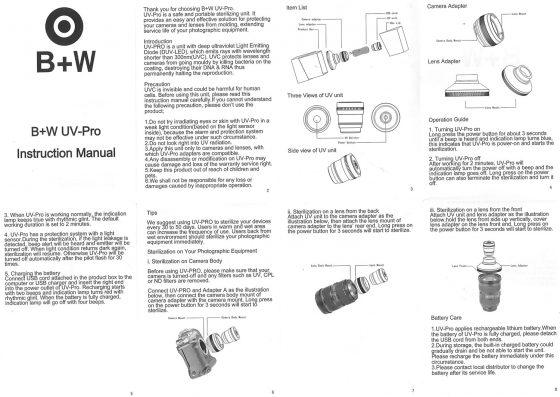 B+W-UV-PRO-prevents-lens-fungus-manual