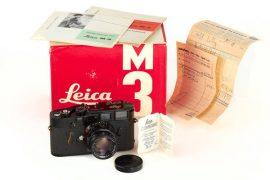 Leica M3 black paint camera