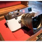 bronze Leica M Typ 240 camera with white leather1