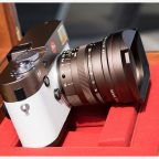 bronze Leica M Typ 240 camera with white leather5