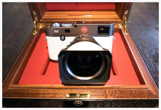 bronze Leica M Typ 240 camera with white leather7
