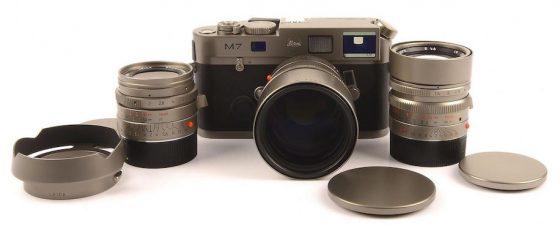Leica M7 Titanium 3 lens set