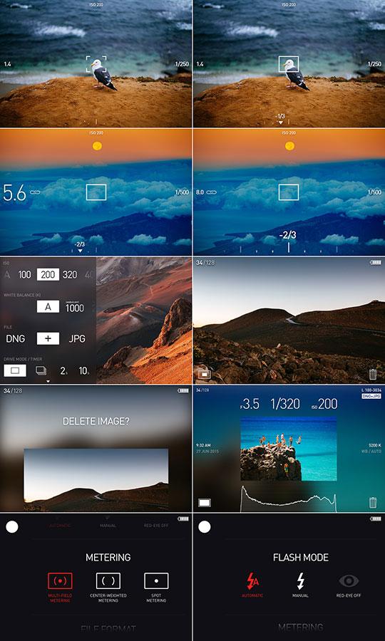 Leica T camera user interface concept